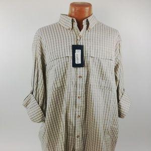 Roundtree & Yorke Shirt Size XL Performance Vented